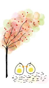 arbres et oiseaux